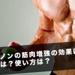 サスタノンの筋肉増強の効果は?副作用は?使用方法は?