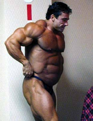 Bodybuilder big belly